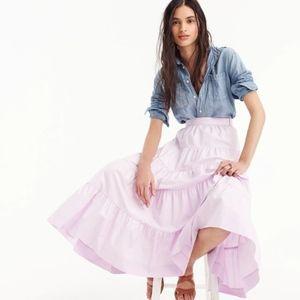 NWT J. Crew Tiered midi skirt in cotton poplin 14